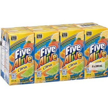 Five Alive Citrus Juice Box (8-Pk) 200ml/6.8 fl. oz., {Imported from Canada}