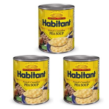 Habitant French Canadian Pea Soup (796ml/28 fl. oz) 3pk{Imported from Canada}