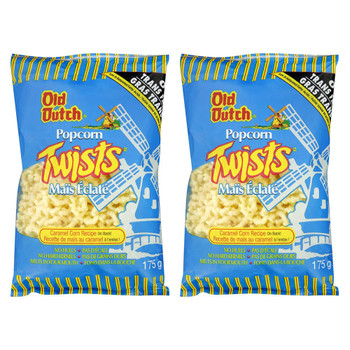 Old Dutch Popcorn Twists Puff Corn Snack 175g/6.17oz, 2-Pack {Imported From Canada}