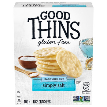 Christie Good Thins Rice Thins Simply Salt Saltines, 100g/3.5oz, (Imported from Canada)