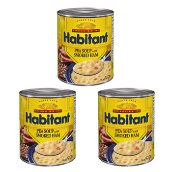 Habitant Pea Soup with Smoked Ham 796ml/28 fl. oz. 3-Pack {Imported from Canada}