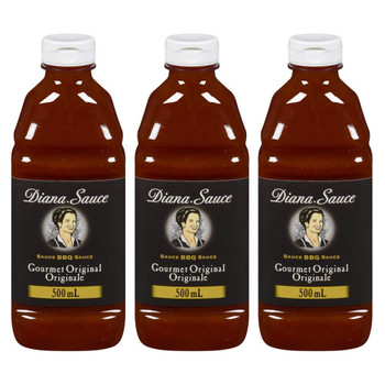 Diana Sauce Gourmet Original (500ml/16.9 oz.,) 3-Pack {Imported from Canada}
