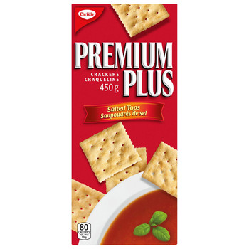 Christie Premium Plus Salted Crackers, 450g/15.9oz,(Imported from Canada)