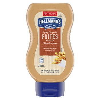 Hellmann's Spicy Chipotle Frites Mayo Style Sauce, 325ml/11 oz., {Imported from Canada}