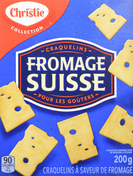 Christie Swiss Cheese Crackers, 200g/7.1oz., {Imported from Canada}