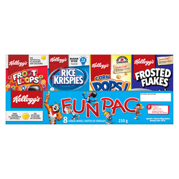 Kellogg's Fun Pac Cereal, 210g/7.4 oz., {Imported from Canada}