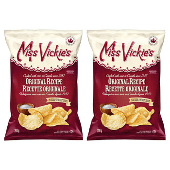 Miss Vickie's Original Recipe Kettle Cooked Potato Chips 200g/7.05oz, 2-Pack {Imported from Canada}