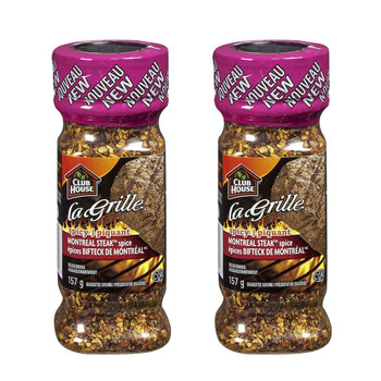 Club House La Grille Spicy Montreal Steak Spice Seasoning, 157g/5.5oz, 2-Pack {Imported from Canada}