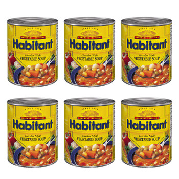 Habitant Garden Style Vegetable Soup 796ml/28 fl. oz. 6-Pack {Imported from Canada}