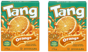 Tang Crystals Orange Juice, 276g/9.7 oz., 2 Pack {Imported from Canada}