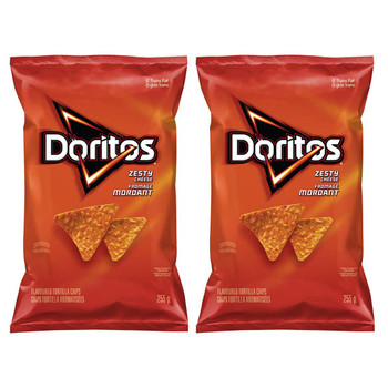 Doritos Zesty Cheese Tortilla Chips, 255g/9oz, 2-Pack {Imported from Canada}