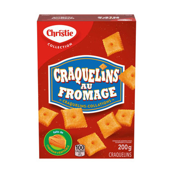 Christie Cheese Nips Cheddar Baked Snack Crackers, 200g/7.05oz, 2-Box {Imported from Canada}