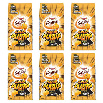 Pepperidge Farm Goldfish Flavour Blasted Cheddar Jack'd Crackers, 180g/6.3oz., 6-Pack {Imported from Canada}