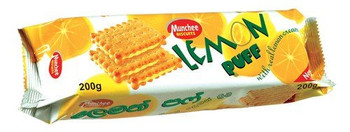 Munchee Lemon Puff Biscuits, 200g/7.1 oz., {Imported from Canada}