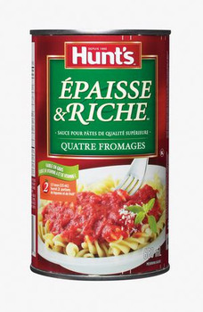 Hunt's Four Cheese Thick & Rich Premium Pasta Sauce, 680ml/23 fl. oz., {Imported from Canada}