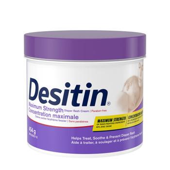 Desitin Diaper Rash Cream for Baby, Zinc Oxide Cream, 454g/16 oz, {Imported from Canada}