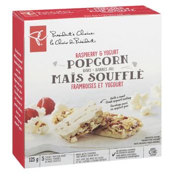 PC, Raspberry & Yogurt Popcorn Bars 125g/4.4 oz., {Imported from Canada}
