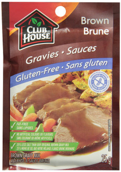 Club House Brown Gravy Mix Gluten Free 25g (3pk) {Imported from Canada}