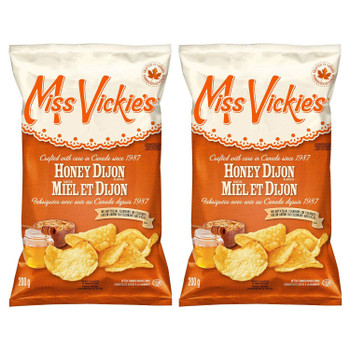 Miss Vickies Honey Dijon Kettle Cooked Potato Chips 200g/7.05oz, 2-Pack {Imported from Canada}