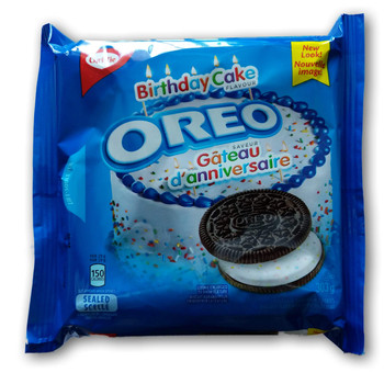 Christie Oreo Birthday Cake Flavour Cookies 303g/10.7 oz., (3 Pack) {Imported from Canada}