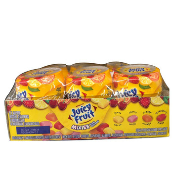 Juicy Fruit Mixies Chewing Gum, 6x40 Piece {Imported from Canada}