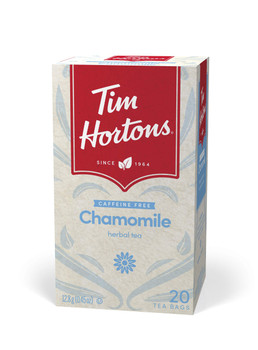 Tim Horton's Chamomile Tea Bags, 20 Count, 12.8g/0.45 oz., {Imported from Canada}