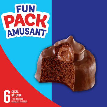 Hostess POP Cakes, 159g/5.6 oz Box, Contains 6 Cakes, {Imported from Canada}