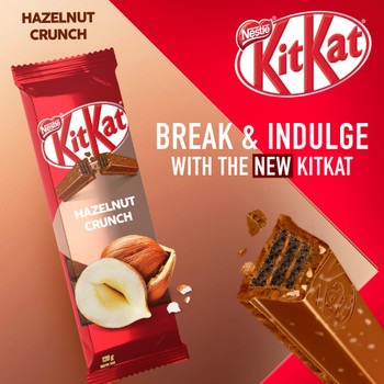 NESTLE Kitkat Hazelnut Crunch Wafer Bar, 120g/4.2 oz., {Imported from Canada}
