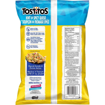 Tostitos Hint of Spicy Queso Tortilla Chips 275g/9.7oz, 2-Pack {Imported from Canada}
