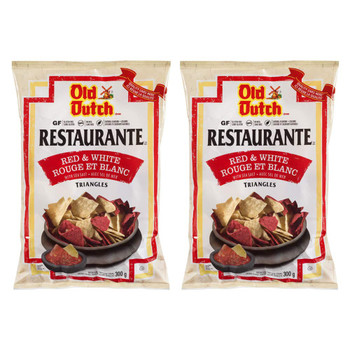 Old Dutch Restaurante Red & White Tortilla Chips, 300g/10.6oz, 2-Pack {Imported from Canada}