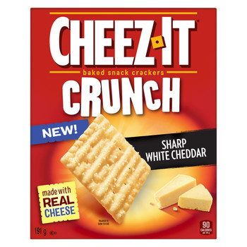 Cheez-It Crunch, Sharp White Cheddar, 191g/6.7 oz., {Imported from Canada}