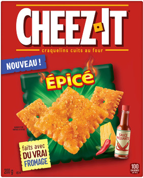 Cheez-It Hot & Spicy Crackers, 200g/7.1 oz., {Imported from Canada}