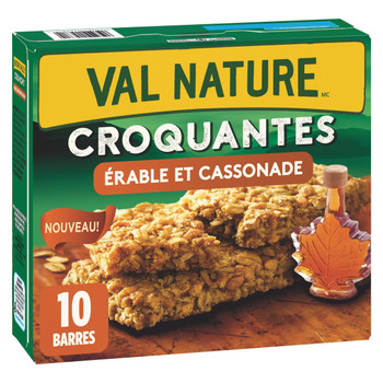 NATURE VALLEY Crunchy Maple Brown Sugar Granola Bars, 10 Count, 210g/7.4 oz., {Imported from Canada}