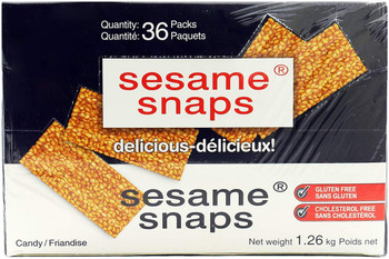 Sesame Snaps Candy (36pk X 35g), 1.26kg/2.8 lbs., {Imported from Canada}