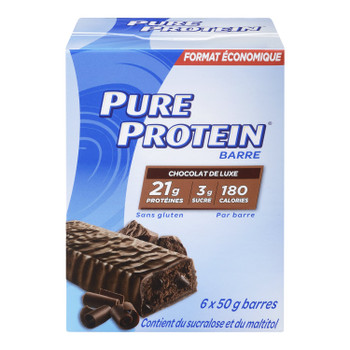 Pure Protein Bars, Gluten Free, Chocolate Deluxe, 50g, 6ct, {Imported from Canada}