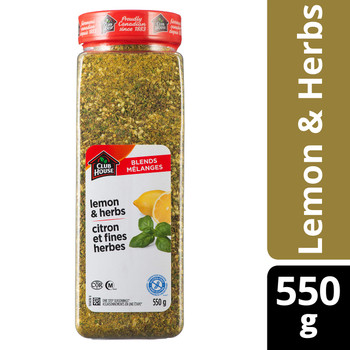 Club House Lemon and Herb Seasoning One Step, 550g {Imported from Canada}