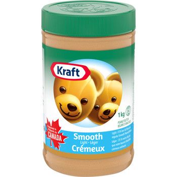 KRAFT Peanut Butter - Light Smooth, (1kg/35 oz.), {Imported from Canada}