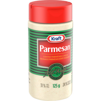 Kraft Grated Parmesan Cheese, 125g/4.4 oz Shaker (Pack of 24) {Imported from Canada}