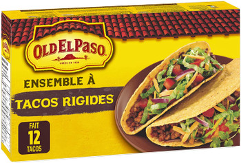 Old El Paso Hard Taco Dinner Kit, 12 taco shells, 250g/8.8 oz., {Imported from Canada}