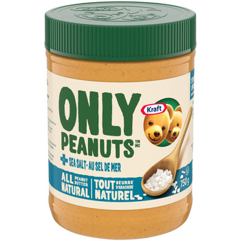 Kraft Peanut Butter, All Natural Sea Salt, 750g/26.5 oz (Pack of 12) {Imported from Canada}