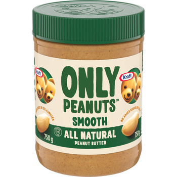 Kraft Peanut Butter, All Natural Smooth, 750g/26.5 oz. (Pack of 12) {Imported from Canada}