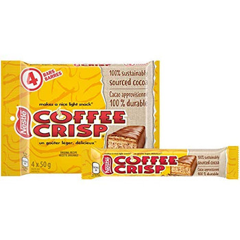 Canada Candy Coffee Crisp Chocolate Bar (4 x 50g) Bars (2pk) {Imported from Canada}