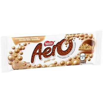 Nestle Aero Gold Caramelized White Chocolate Bar, 42g/1.4oz, {Imported from Canada}