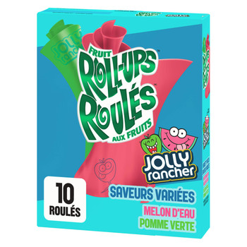 Jolly Rancher Fruit Roll-Ups, Gluten Free Flavoured Snacks, 141g/5 oz., {Imported from Canada}