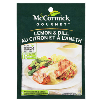 McCormick Gourmet, Lemon & Dill Dry Mix, 40g/1.4 oz., {Imported from Canada}