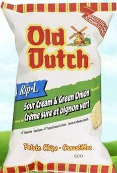 Old Dutch (40 pack) Sour Cream & Green Onion (40g / 1.4oz per pack) {Imported from Canada}