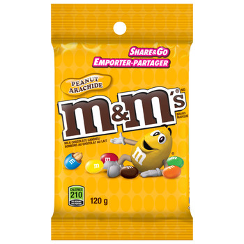 M&M's Peanut Candies, Peg Pack 120g/4.2 oz., 24-Count {Imported from Canada}