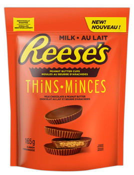 Reese's Peanut Butter Cups Milk Chocolate Thins, 165g/5.8 oz., (12pk) {Imported from Canada}