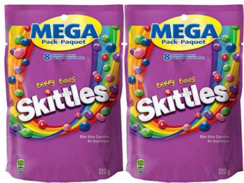 Skittles Berry, Mega-Pack, 320g/11.3 oz., (2 Pack) - {Imported from Canada}