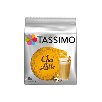 Tassimo Chai Latte, 180g/6.3 oz., 8ct, (Pack of 2) {Imported from Canada}